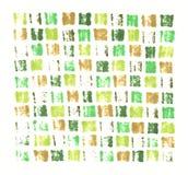Ręka rysujący markiera odcisku abstrakcjonistycznej zieleni mozaiki płytki khaki tło ilustracji