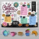 Ręka rysujący menu Obrazy Stock