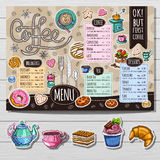 Ręka rysujący menu Zdjęcia Royalty Free