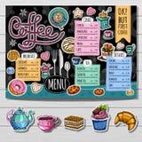 Ręka rysujący menu ilustracji