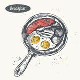 Ręka rysujący nakreślenie grafika gradienty śniadaniowi ablegrują używać żadnego set Zdjęcia Stock