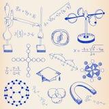 Ręka Rysujący Nauki Ikony Set Fotografia Stock