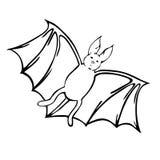 Ręka rysujący nietoperz Obraz Royalty Free