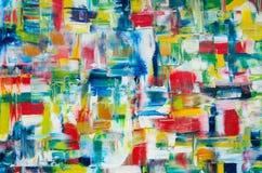 Ręka rysujący obraz olejny sztuki abstrakcjonistycznej tło Obraz olejny na kanwie Kolor tekstura Czerep grafika royalty ilustracja