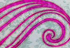 Ręka rysujący obrazek kolorowy falowy kształt ilustracja wektor