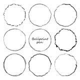 Ręka rysujący okrąg linii nakreślenia set Wektorowego kółkowego skrobaniny doodle round okręgi dla wiadomości notatki oceny proje ilustracja wektor