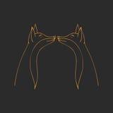 Ręka Rysujący ornament z ślicznym lisem również zwrócić corel ilustracji wektora Kartka z pozdrowieniami, zaproszenie, sztandar r Ilustracja Wektor