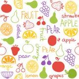Ręka rysujący owocowy bezszwowy wzór Obraz Royalty Free