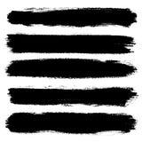 Ręka rysujący paskujący wzór Monochromatyczny horyzontalny atramentu muśnięcie muska teksturę Stripy tło ilustracji