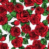 Ręka rysujący róża wzór Fotografia Stock
