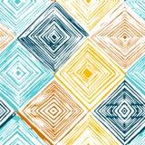 Ręka rysujący rhombus bezszwowy wzór Fotografia Royalty Free