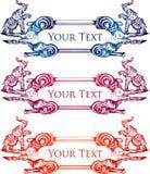 Ręka rysujący rocznika słonia sztandar 1 royalty ilustracja
