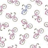 Ręka rysujący rowerowy bezszwowy wzór Obraz Stock