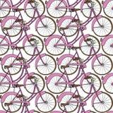 Ręka rysujący rowerowy bezszwowy wzór Obraz Royalty Free