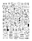 Ręka rysujący set roczników elementy wektor ilustracja wektor