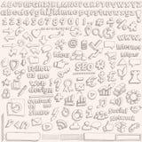 Ręka rysujący sieć elementy & ikony EPS10 Zdjęcie Stock