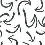 Ręka rysujący strzałkowaty bezszwowy wzór Kreatywnie abstrakcjonistyczny tło również zwrócić corel ilustracji wektora ilustracja wektor