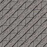 Ręka rysujący stylowy etniczny bezszwowy wzór Abstrakcjonistyczny geometryczny tafluje tło w czarny i biały Zdjęcia Stock