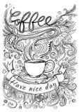 Ręka rysujący typografii kawy plakat Zdjęcie Stock