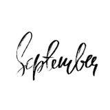 Ręka rysujący typografii literowanie septyczny Miesiąc inskrypcja również zwrócić corel ilustracji wektora ilustracji