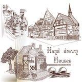 Ręka rysujący wektorów domy Zdjęcie Royalty Free