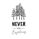 Ręka rysujący wektorowi dzicy lasowi etykietki i projekta elementy Obraz Stock