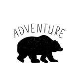Ręka rysujący wektorowy dziki lasu niedźwiedź Zdjęcie Stock