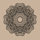 Ręka rysujący wektorowy zentangle mandala - może używać jako kolorystyki książki strona dla dorosłych, karta, zaproszenie Obraz Stock