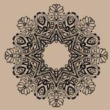 Ręka rysujący wektorowy zentangle mandala - może używać jako kolorystyki książki strona dla dorosłych, karta, zaproszenie Fotografia Royalty Free