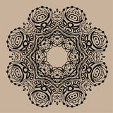 Ręka rysujący wektorowy zentangle mandala - może używać jako kolorystyki książki strona dla dorosłych, karta, zaproszenie Zdjęcia Stock