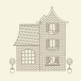 Ręka rysujący wektoru dom ilustracji