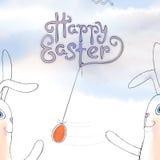 Ręka rysujący Wielkanocny kartka z pozdrowieniami w wektorowym formacie Obraz Stock