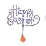 Ręka rysujący Wielkanocny kartka z pozdrowieniami w wektorowym formacie Zdjęcie Royalty Free