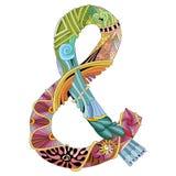 Ręka rysujący zentangle ampersand Wektorowy dekoracyjny niezwykły Zdjęcia Stock