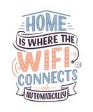 Ręka rysuje literowanie - Domowy, wielki projekt dla jakaś zamierza dokąd wifi łączy automatycznie Mądrze domowy abstrakcjonistyc ilustracji