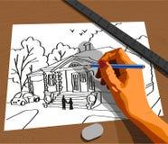 Ręka rysunek ilustracji