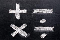 Ręka rysunek biel kreda w mathematics symbolu kształcie ilustracji