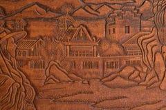 Ręka rzeźbiąca w drewnie zdjęcie stock