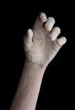 ręka spierzchniający biel obrazy royalty free