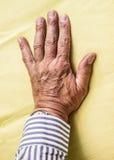 Ręka starszy mężczyzna Fotografia Royalty Free
