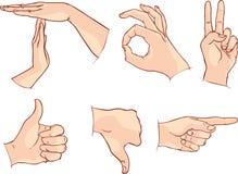 Ręka sygnały na białym tle - Wektorowa ilustracja ilustracja wektor