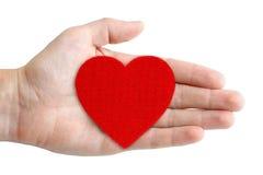 ręka symbol kierowy czerwony zdjęcia stock