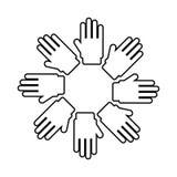 ręka symbolu ikony różnorodność odizolowywający projekt royalty ilustracja
