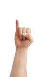Ręka szyldowy język Zdjęcia Royalty Free
