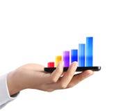 ręka telefon mobilny nowożytny Zdjęcia Stock