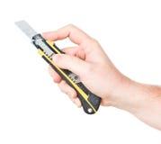 ręka tnący nóż Obraz Stock