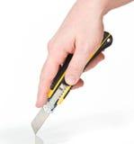 ręka tnący nóż Zdjęcie Royalty Free