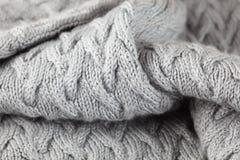 Ręka trykotowy pulower zdjęcia royalty free