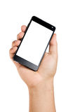 Ręka Trzyma Duży Smartphone Zdjęcie Royalty Free