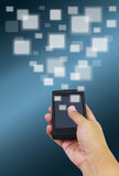 Ręka trzyma mądrze telefon Fotografia Stock